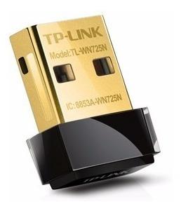 placa de red wifi usb mini tplink tlwn725n 150 mbps nano