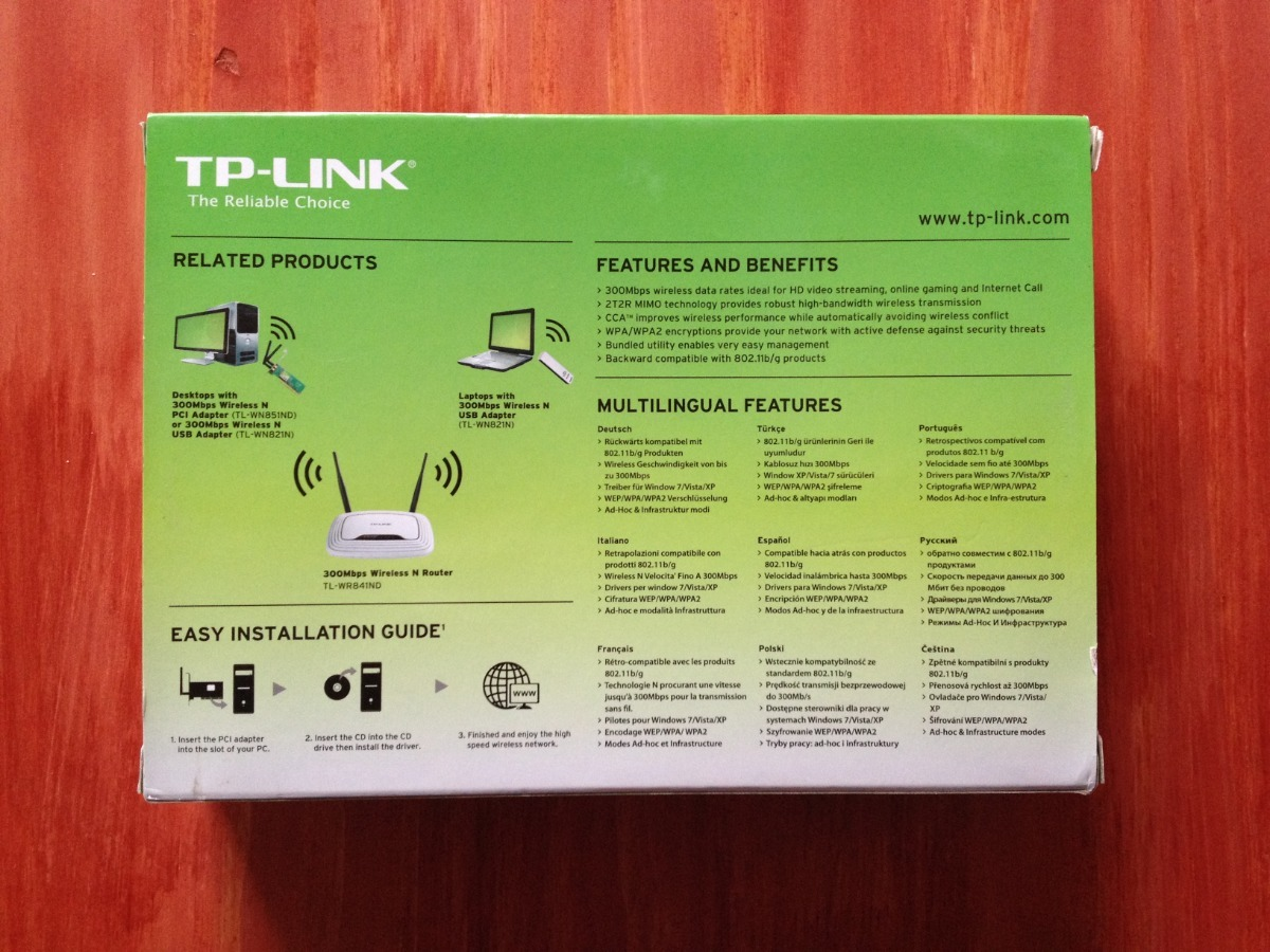 Placa De Red Wireless Pci Tp-link Tl-wn851nd