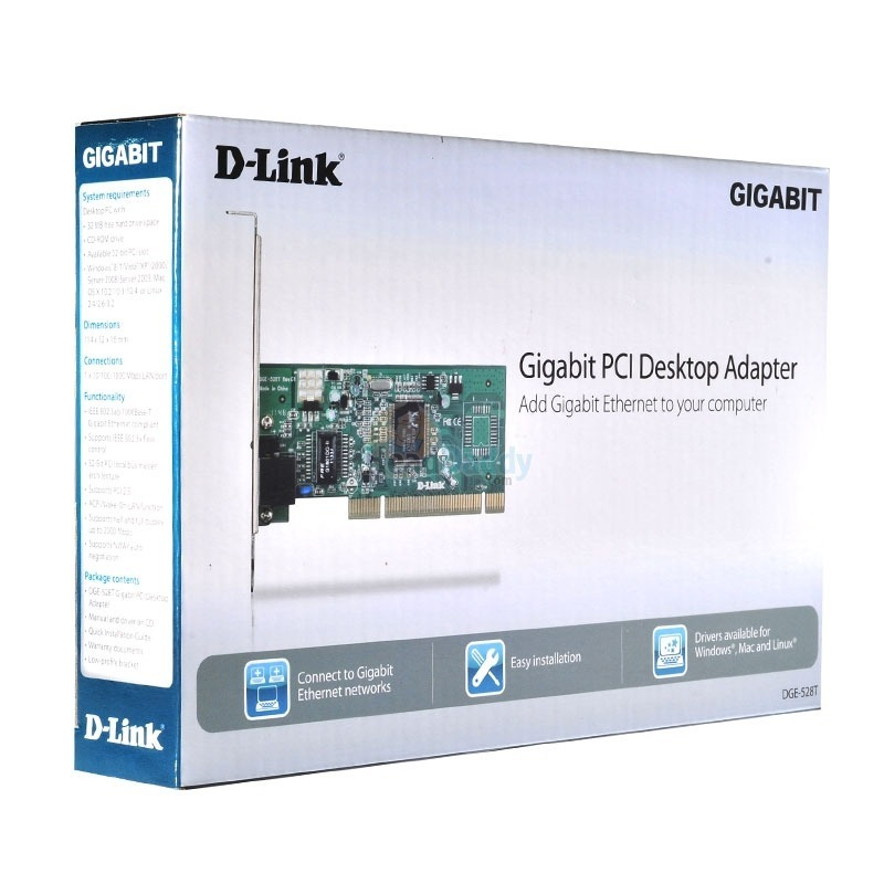 D-Link DGE-528T Ethernet Adapter Driver for Windows Mac
