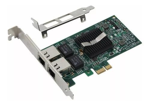 placa de rede dual giga intel 82576eb e1g42et pci-e x1 1000m