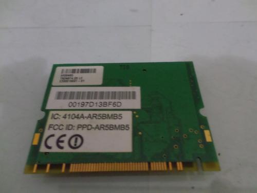 placa de rede notebook mini pci wireless acer aspire 3690