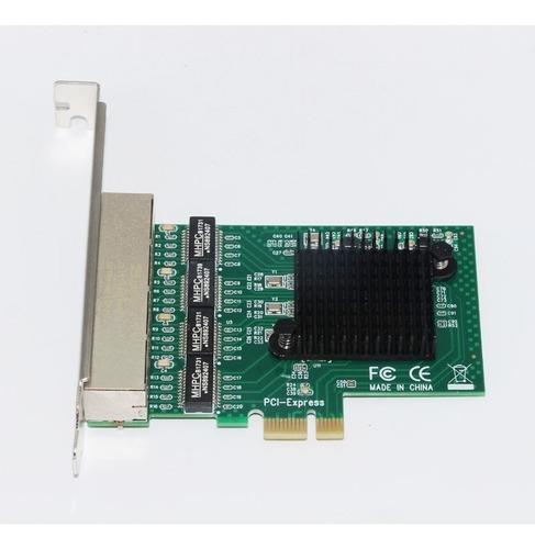 placa de rede pc servidor 4 portas eth gigabit realtek novo