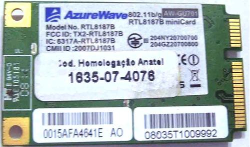 placa de rede wifi mini pci-express azurewave aw-gu701