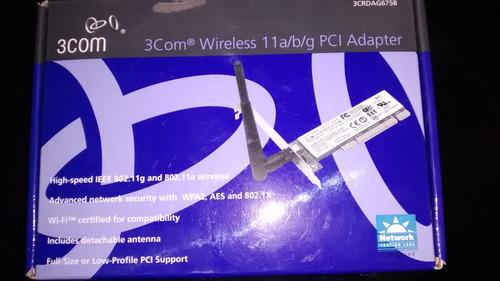 placa de rede wireless wifi 3com 108mbps