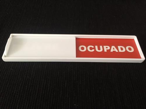 placa de sinalização porta sistema livre / ocupado hospital
