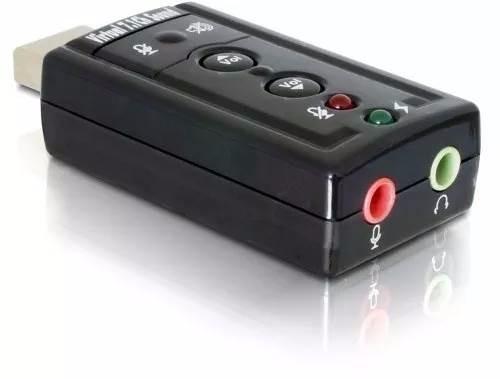 placa de som adaptador áudio usb 7.1 canais pc notebook 3d