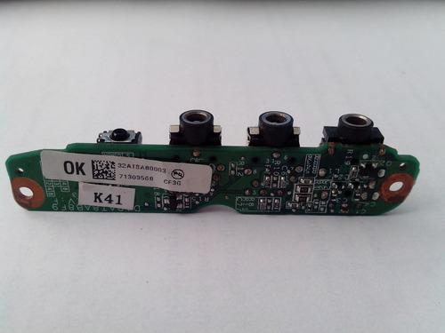 placa de som hp dv6000 audio 3-jack/infrared board