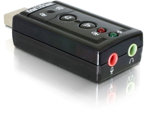 placa de som usb adaptador áudio 7.1 c/ p2 pc notebook