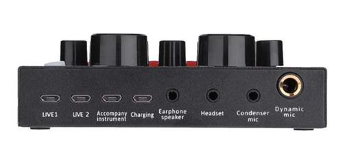 placa de som usb audio hot-v8 gravação de telefone celular