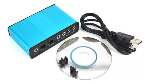 placa de som usb externa 5.1 6 canais spdif notebook pc