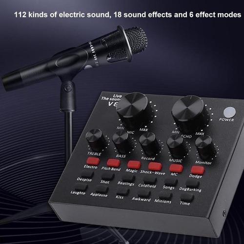 placa de som v8 voice change ao vivo multifuncional