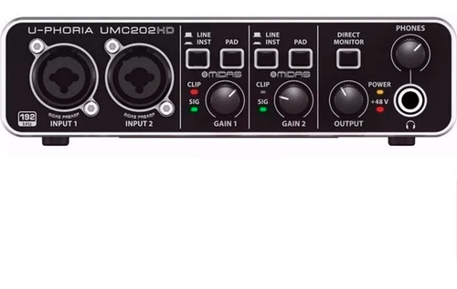 placa de sonido behringer uphoria umc202 hd  24bit / 192khz