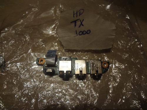 placa de sonido + cable flex notebook hp tx1000