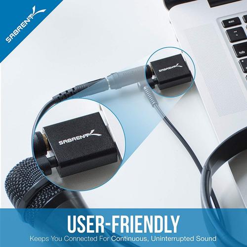 placa de sonido externa - sabrent - usb para windows / mac