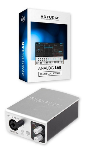 placa de sonido externa usb midiplus studio m + analog lab lite 3 arturia software vst