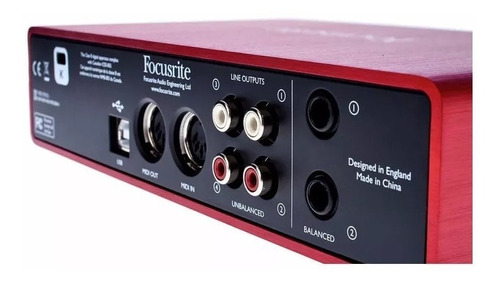placa de sonido interface focusrite scarlett 2i4 2in 4out