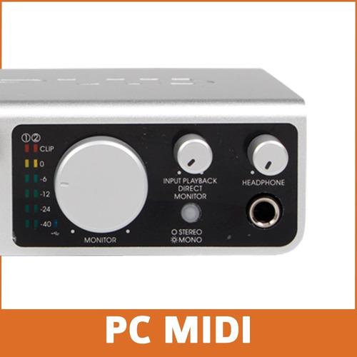 placa de sonido midiplus studio 2 192 khz 24 bits + cuotas
