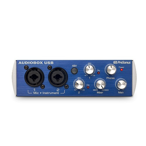 placa de sonido presonus audiobox usb midi in/out portable