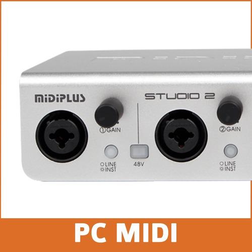 placa de sonido profesional midiplus studio 2 192 khz 24 bit