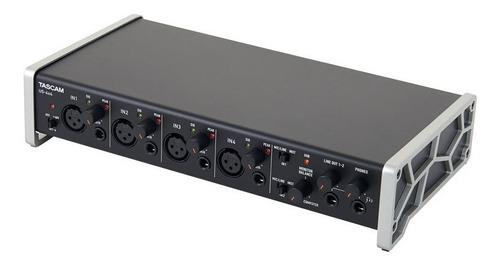 placa de sonido tascam us 4x4 interfaz usb midi de 4 canales