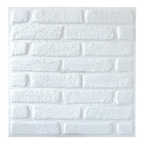 placa de tijolo pvc 3d forrarama 50cm x 50cm