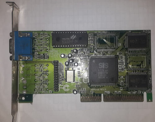 placa de video agp sis6326 excelente estado