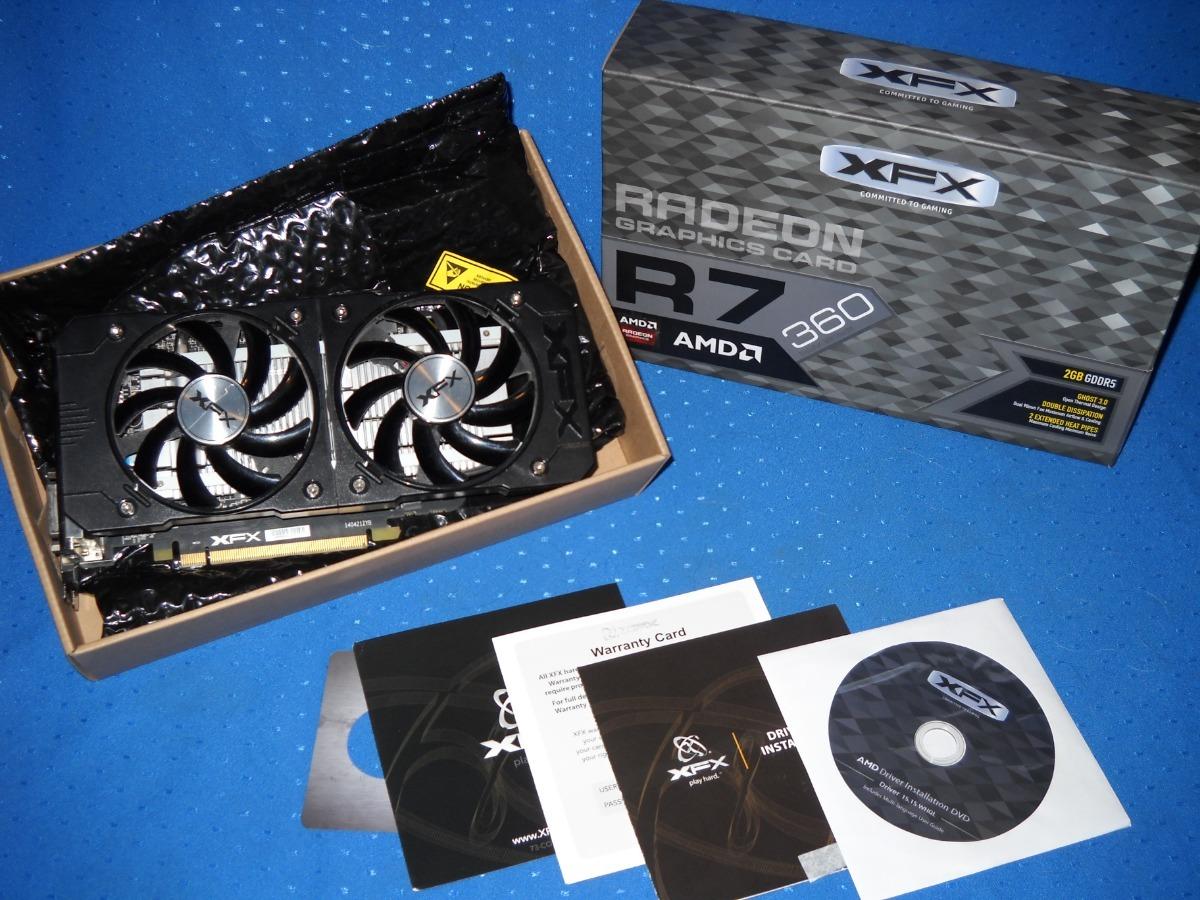 Placa De Video Amd Xfx Radeon R7- 360 2gb - $ 4 000,00