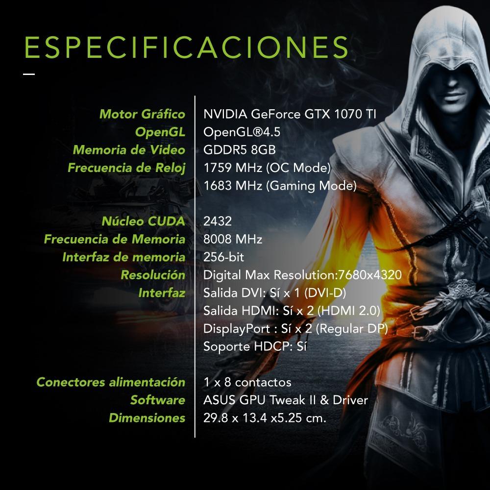 Placa De Video Asus Gtx 1070ti A8g Gaming Strix Advanced 27999 Geforce 1070 Ti 8gb Ddr5 Cargando Zoom