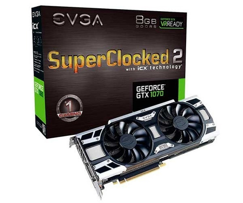 placa de vídeo evga geforce gtx 1070 8gb sc2 gddr5 256bit