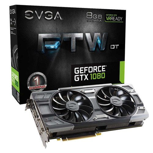 placa de video evga geforce gtx 1080 8gb ftw 08g-p4-6284-kr