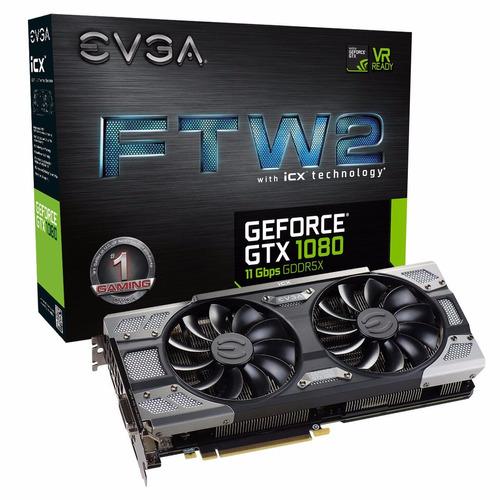 placa de vídeo evga geforce gtx 1080 8gb ftw2 gaming lacrada