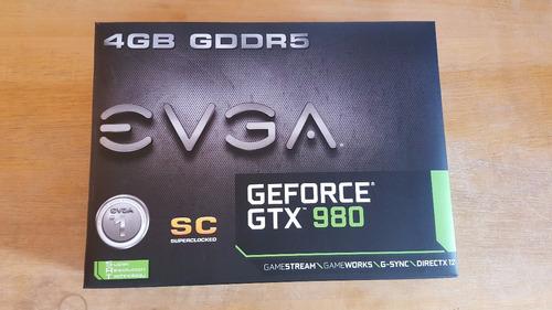 placa de vídeo evga gtx 980 superclocked sc zerada na caixa