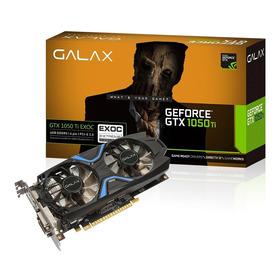 Placa De Vídeo Galax Geforce Gtx 1050ti Exoc 4gb Ddr5 128bit