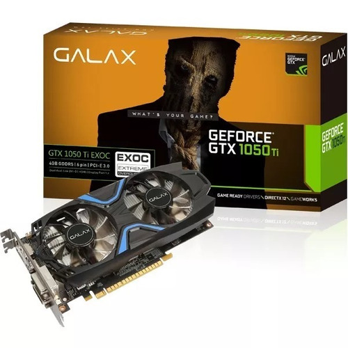 placa de vídeo galax geforce gtx 1050ti exoc 4gb ddr5 128bts