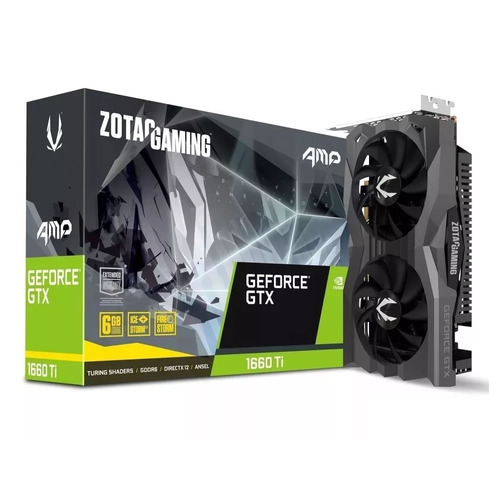 placa de video gamer gtx 1660 ti amp edition 6gb gddr6 zotac
