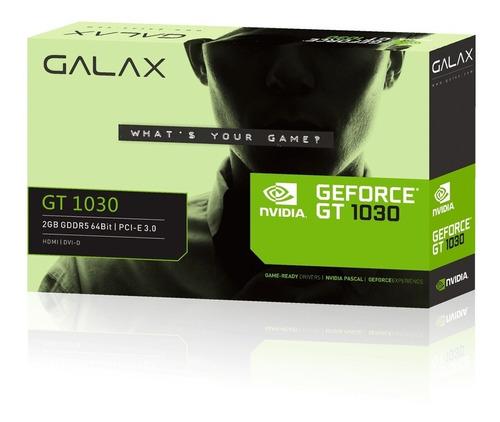 placa de vídeo geforce gt 1030 gddr5 2gb - galax