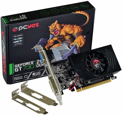 placa de vídeo geforce gt730 2gb sddr3 128bits low profile