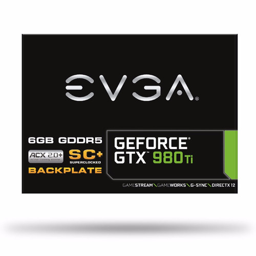 placa de video geforce gtx 980ti sc evga 384 bit backplate