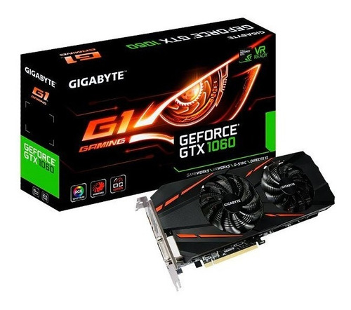 placa de vídeo gigabyte geforce gtx 1060 6gb g1 gaming