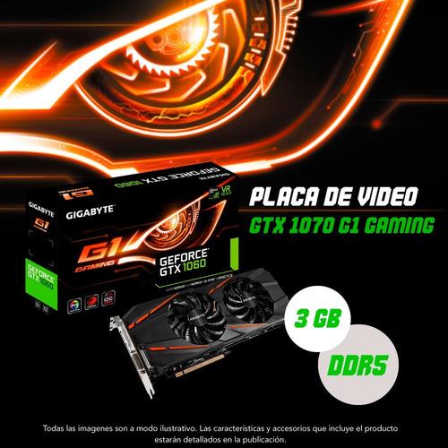 placa de video gigabyte geforce gtx 1060 g1 gaming 3gb 12ct
