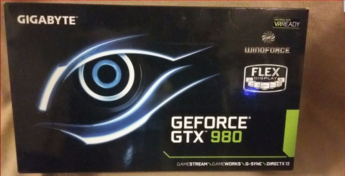 placa de vídeo gigabyte gtx 980 oc windforce 3x 4gb gddr5
