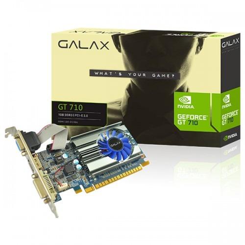 placa de vídeo gpu nv gt 710 1gb d3 64b galax 71ggf4dc00wg
