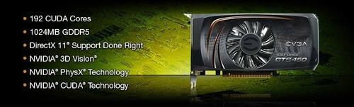 placa de video gts 450 1gb evga