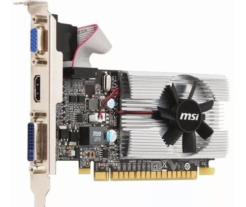placa de video msi geforce 210 1gb ddr3 con low profile
