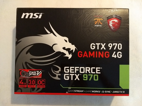 placa de video msi gtx 970 gaming 4g full box impecable
