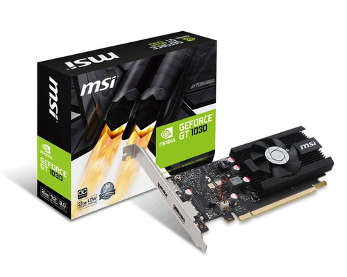 placa de video msi nvidia geforce gt 1030 2gb ddr4 lp oc