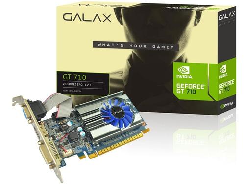 placa de video para pc geforce gt710 2gb ddr3 até 3 monitor