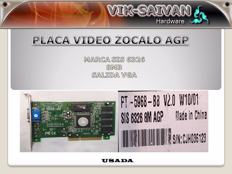 DRIVERS UPDATE: SIS 6326 AGP VGA