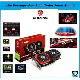 Placa De Vídeo Top Gtx 1050ti - Gaming X 4gb (seminova)