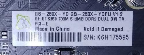 placa de vídeo xfx nvidia gts 250 512mb